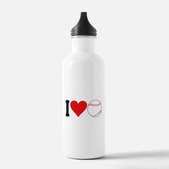 I Love Baseball (design) Water Bottle