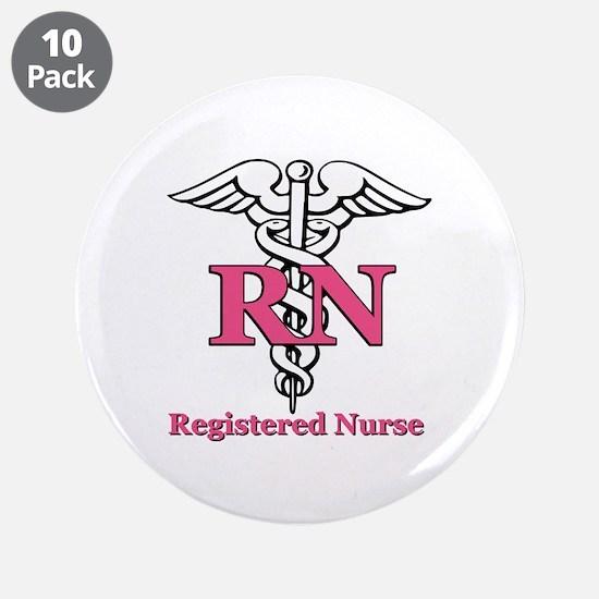 "Registered Nurse 3.5"" Button (10 pack)"