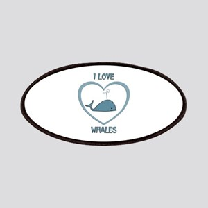 I Love Whales Patch
