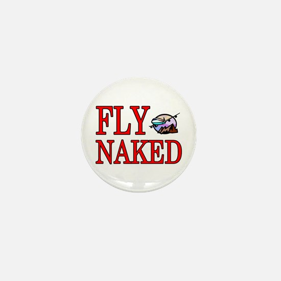 fly naked Mini Button