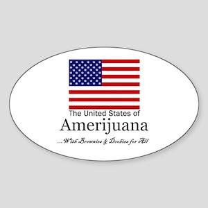 Amerijuana Sticker (Oval)