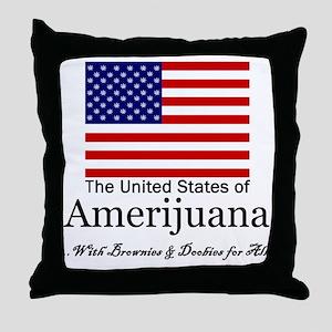Amerijuana Throw Pillow