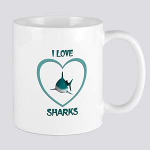 I Love Sharks 11 oz Ceramic Mug
