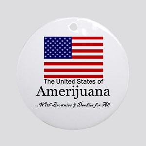 Amerijuana Ornament (Round)