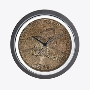 Flying Eagle Obverse Wall Clock