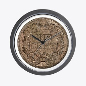 Flying Eagle Reverse Wall Clock
