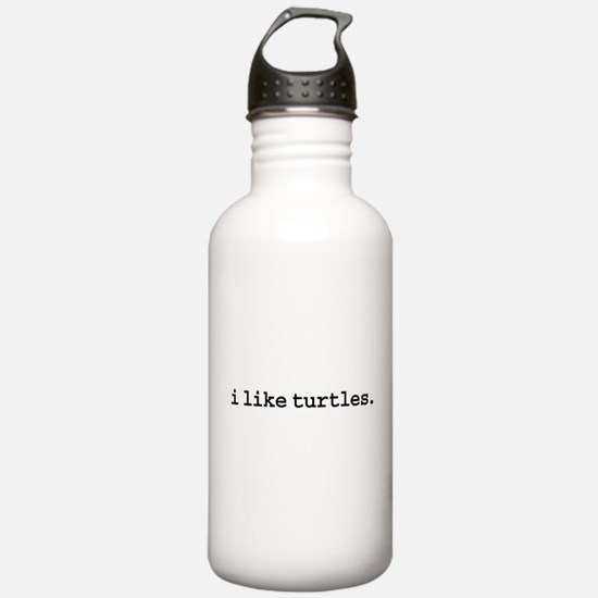 i like turtles. Water Bottle