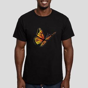 Butterfly Monarch Men's Fitted T-Shirt (dark)