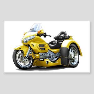 Goldwing Yellow Trike Sticker (Rectangle)