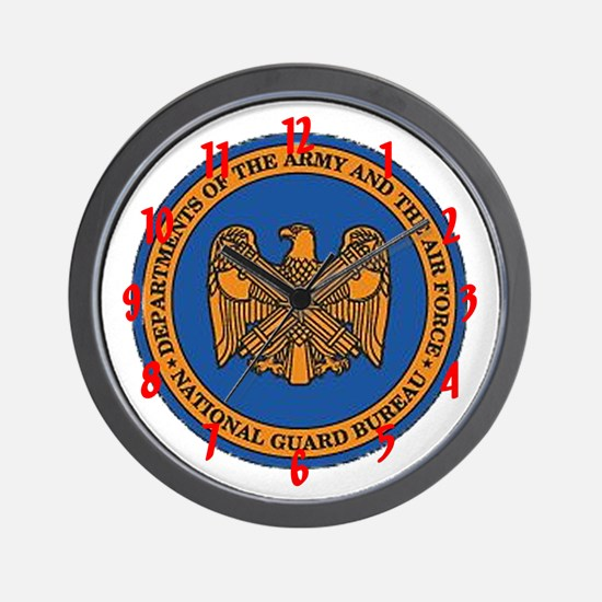 """""""Army and Air Force National Guard"""" Wall Clock"""