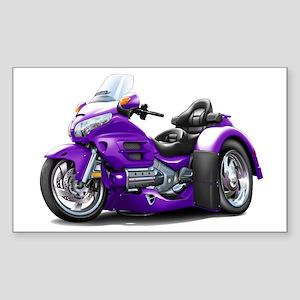 Goldwing Purple Trike Sticker (Rectangle)