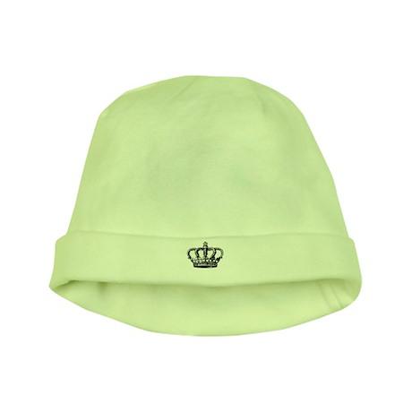 Black Crown baby hat