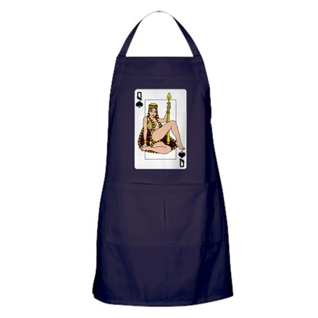 THE QUEEN OF CLUBS Apron (dark)