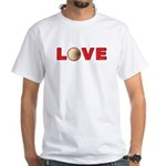 Volleyball Love 3 White T-Shirt