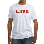 Volleyball Love 3 Fitted T-Shirt