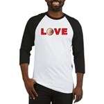 Volleyball Love 3 Baseball Jersey