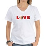 Volleyball Love 3 Women's V-Neck T-Shirt