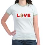 Volleyball Love 3 Jr. Ringer T-Shirt