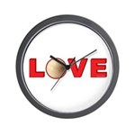 Volleyball Love 3 Wall Clock