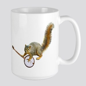 Squirrel with Banjo Large Mug