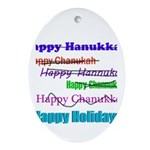 Happy Holiday Ornament (Oval)