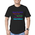 Happy Holiday Men's Fitted T-Shirt (dark)