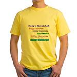 Happy Holiday Yellow T-Shirt