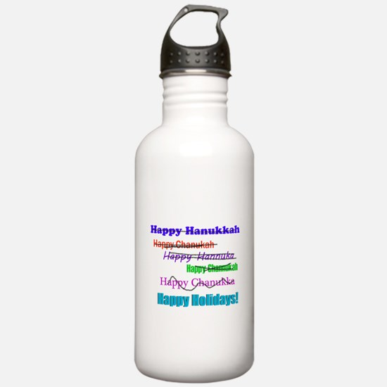 Happy Holiday Water Bottle