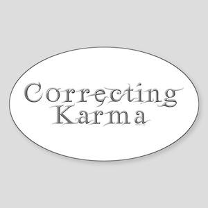 Correcting Karma Oval Sticker