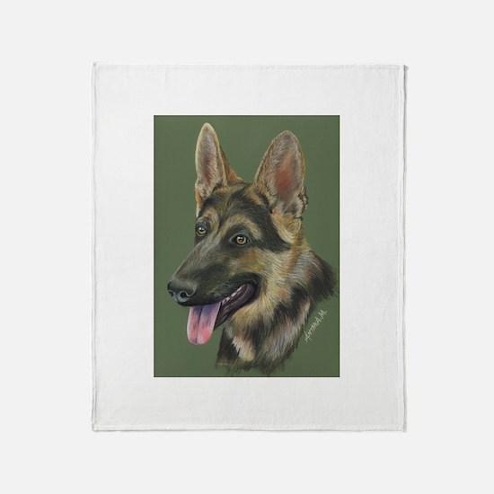 German Shepherd Throw Blanket