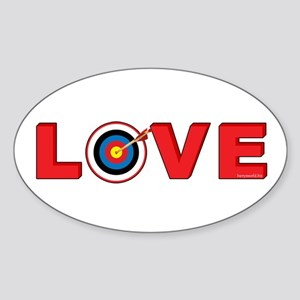 Archery Love 4 Sticker (Oval 10 pk)