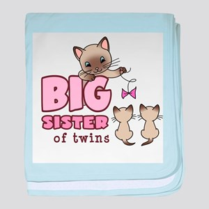 Big Sister of Twins (Kitty) baby blanket