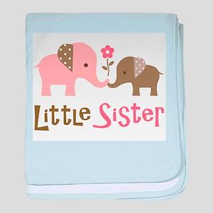 Little Sister - Mod Elephant baby blanket