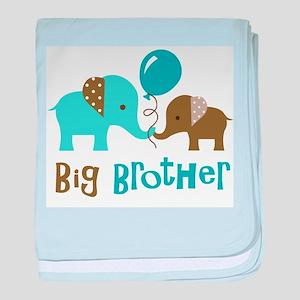 Big Brother - Mod Elephant baby blanket