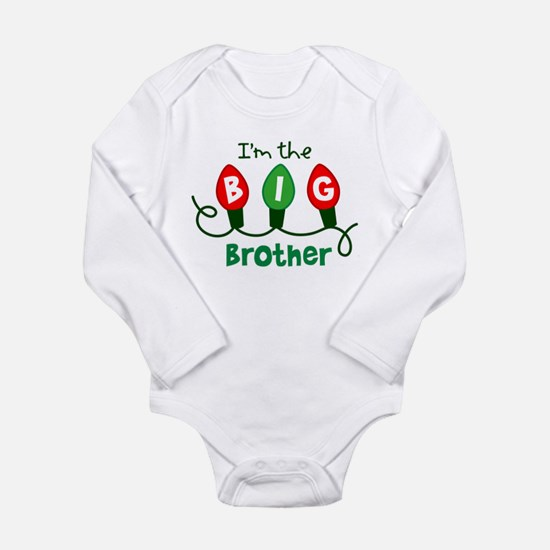 Big Brother Christmas lights Long Sleeve Infant Bo