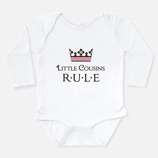Little Cousins Rule Long Sleeve Infant Bodysuit