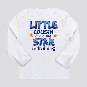 Little Cousin - Star (Blue) Long Sleeve Infant T-S