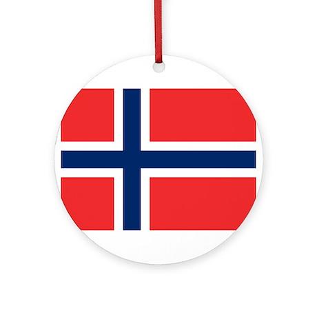 Norwegian Pride Ornament (Round)