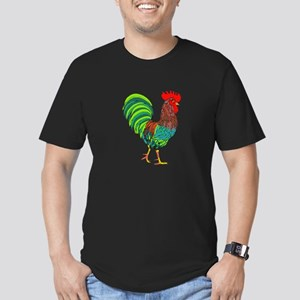 Rooster Men's Fitted T-Shirt (dark)