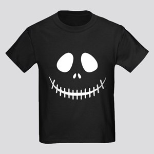 Skeleton Face Kids Dark T-Shirt