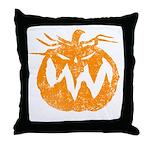 Grunge Pumpkin Throw Pillow