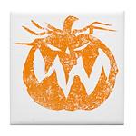 Grunge Pumpkin Tile Coaster