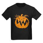 Grunge Pumpkin Kids Dark T-Shirt