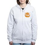 Grunge Pumpkin Women's Zip Hoodie