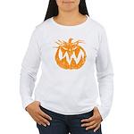 Grunge Pumpkin Women's Long Sleeve T-Shirt