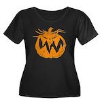 Grunge Pumpkin Women's Plus Size Scoop Neck Dark T