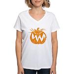 Grunge Pumpkin Women's V-Neck T-Shirt