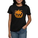 Grunge Pumpkin Women's Dark T-Shirt