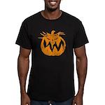 Grunge Pumpkin Men's Fitted T-Shirt (dark)