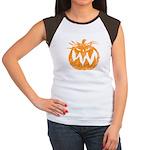 Grunge Pumpkin Women's Cap Sleeve T-Shirt